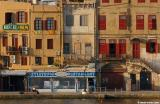 Chania harbour in summer. Early morning light.