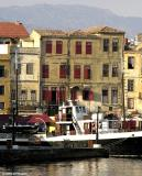 Old houses on Chania harbour