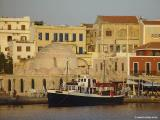 Chania harbour in evening light