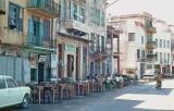 Sea front café in the old harbour of Chania