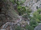 Walkers in the gorge of Agia Irini