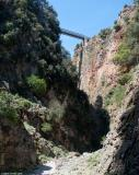 In the upper part of the gorge of Aradena with a view of the bridge