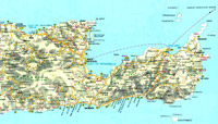 Map of Eastern Crete