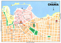 Carte du centre ville de Chania