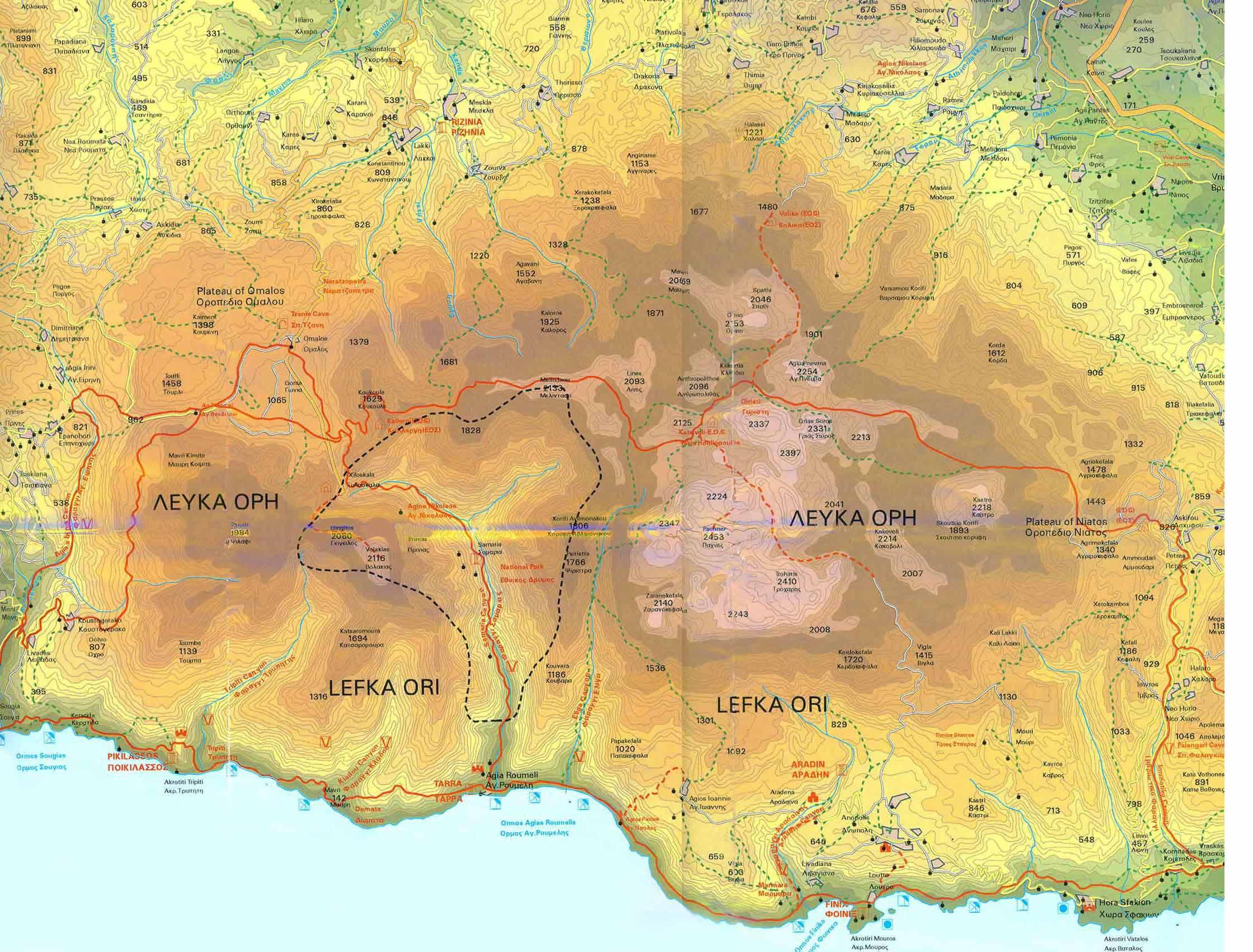 Carte Routiere Crete En Francais.Cartes De Crete