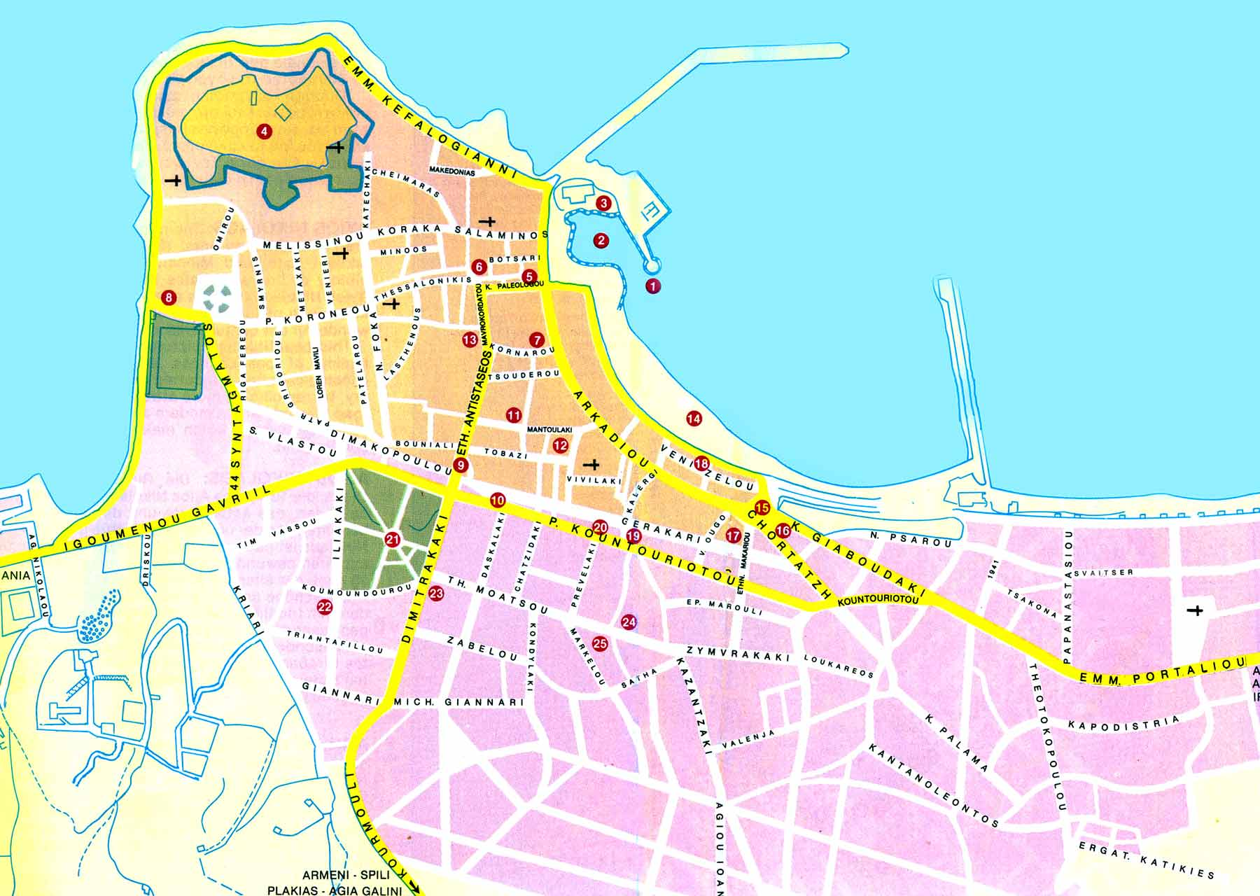 Map of Rethymnon - Click to enlarge