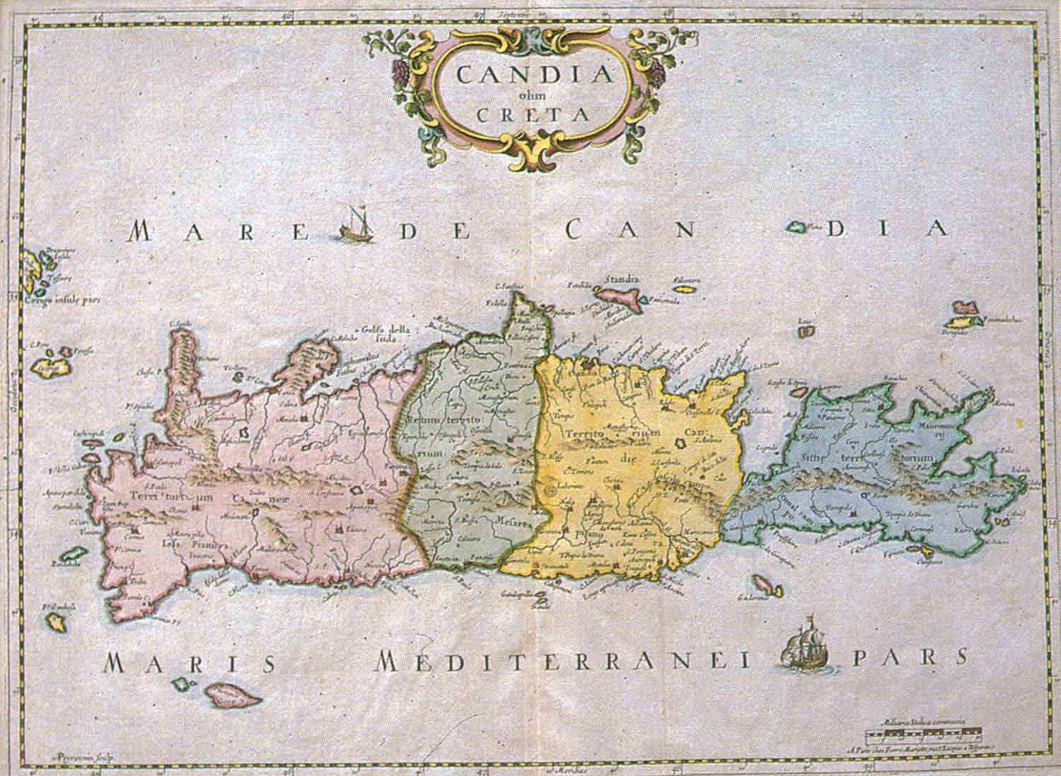 Venetian map of Crete - Click to enlarge