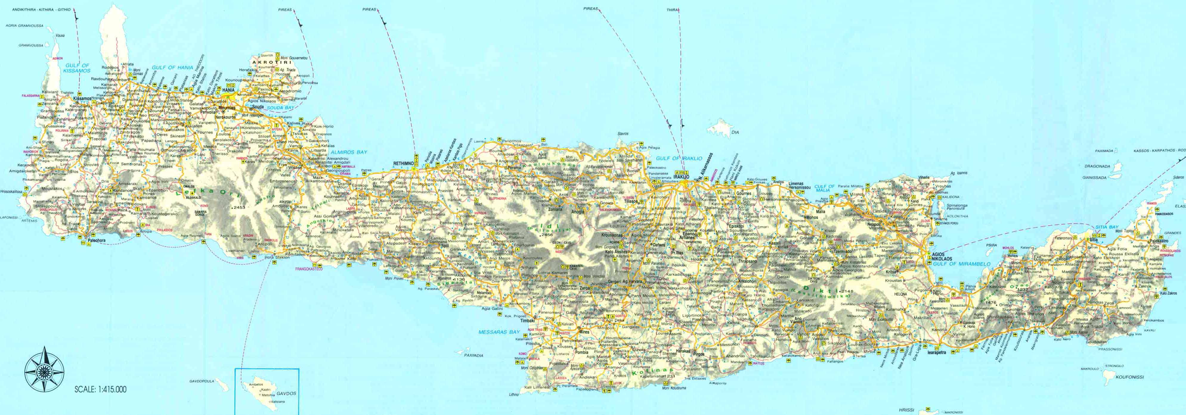 Map of Crete - Click to enlarge