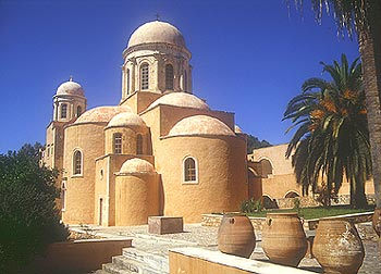 The church of the monastery of Agia Triada, Akrotiri