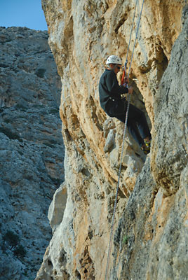 Rock climbing in Agiofarango