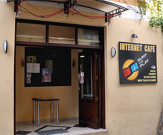 Internet cafe in Chania