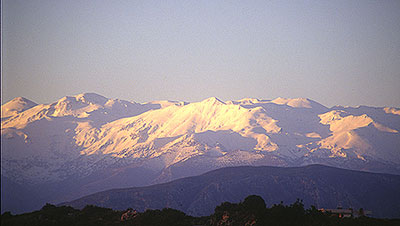 The White Mountains at dawn