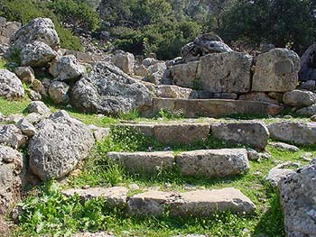 Stairs leading to the Aesculap temple in Lissos