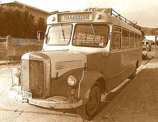 The old bus to Paleochora (in the 1970's