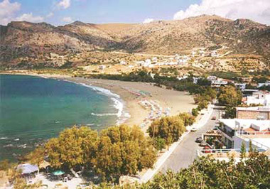 The beach of Paleochora in South Crete