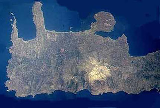 Satellite picture of West Crete