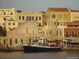 Evening light in the harbour of Chania
