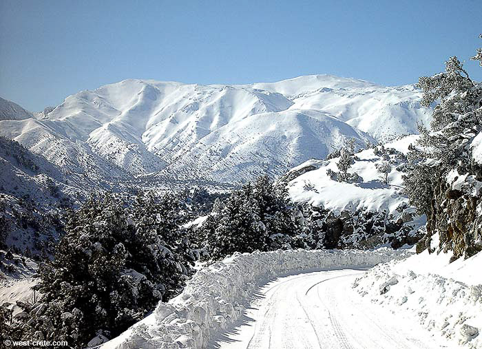 The White Mountains in winter