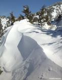 Snow drift in Omalos