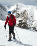Snowshoeing on the slopes above Omalos