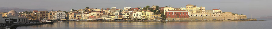 The harbour of Chania early in the morning