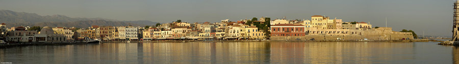 The harbour of Chania early in the mroning