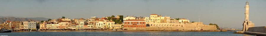 Chania panorama, early morning in summer 2007