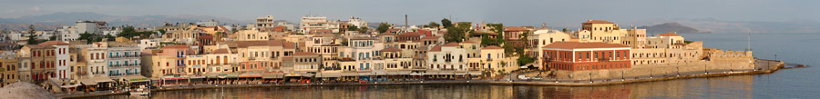 Chania panorama, early morning in summer 2008