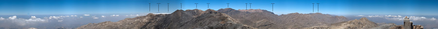360° panoramic view from the summit of Mavri - Click to enlarge
