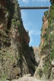 The bridge of Aradena seen from the bottom of the Aradena gorge