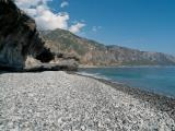 On the pebble beach of Agia Roumeli (near the mouth of the river) looking towards the East