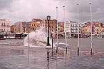 Storm in the old harbour of Hania