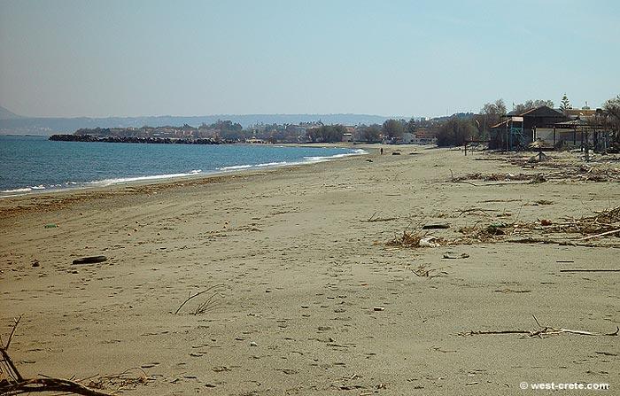 Agia Marina Beach In Winter
