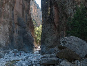 The 'Gates', narrowest point of the gorge